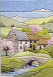 Click for more details of Cottages Spring (long-stitch kit) by Rose Swalwell