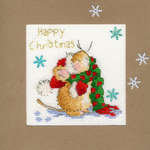 Click for more details of Counting Snowflakes Christmas Card (cross stitch) by Bothy Threads