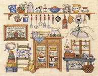 Click for more details of Country Collections - 'In my Country Kitchen' (cross stitch) by Graph-it Arts