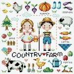 Click for more details of Country Farm (cross stitch) by Soda Stitch