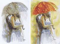 Click for more details of Couple Under An Umbrella II (cross stitch) by Luca - S