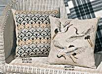 Click for more details of Crane Cushion (cross stitch) by Permin of Copenhagen