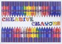 Click for more details of Creative Crayons (cross stitch) by Vickery Collection