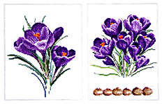 Click for more details of Crocus (cross stitch) by Thea Gouverneur