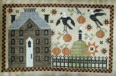 Click for more details of Crone on the Hill (cross stitch) by Plum Street Samplers