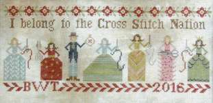 Click for more details of Cross Stitch Nation (cross stitch) by Heartstring Samplery