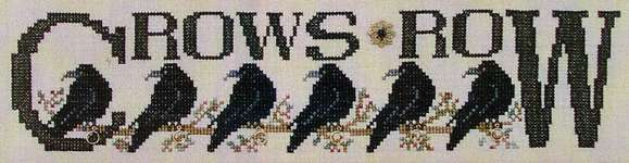 Click for more details of Crows Row (cross stitch) by Hinzeit