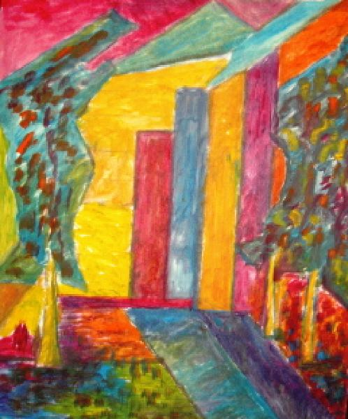 Click for more details of Cubism Landscape (oil on board) by gianbencio