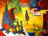 Click for more details of Cubism Landscape with Still Life (oil on canvas) by gianbencio