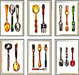 Click for more details of Cutlery Sets (cross stitch) by Thea Gouverneur