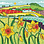 Click for more details of Daffodil Landscape (cross stitch) by Karen Carter