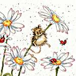Click for more details of Daisy Mouse (cross stitch) by Bothy Threads