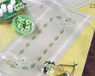 Click for more details of Daisy Table Runner (embroidery) by Permin of Copenhagen