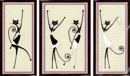 Click for more details of Dancing Cats (cross stitch) by Oven Company