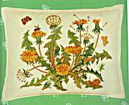 Click for more details of Dandelion Cushion Cover (cross stitch) by Eva Rosenstand