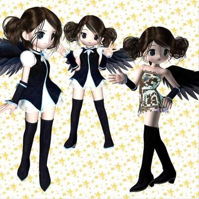 Click for more details of Dark Angels (digital downloads) by DawnsDesigns