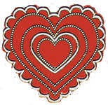 Click for more details of Dazzles Red Valentine Stickers (adhesives) by Hot Off The Press Inc