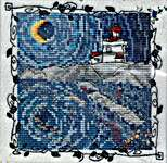 Click for more details of Deep Waters - Lighthouse (cross stitch) by MarNic Designs