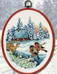 Click for more details of Deer and Birds Framed Picture (cross stitch) by Permin of Copenhagen