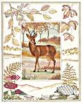 Click for more details of Deer (cross stitch) by Rose Swalwell