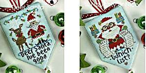 Click for more details of Deer Santa and Naughty or Nice (cross stitch) by Hands On Design