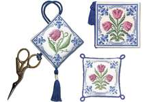 Click for more details of Delft Blue Stitcher's Accessory Set (cross stitch) by Textile Heritage