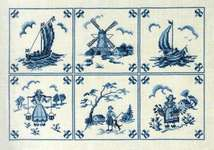 Click for more details of Delft Blue Tiles (cross stitch) by Eva Rosenstand