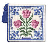 Click for more details of Delft Tulips Needle Case (cross stitch) by Textile Heritage