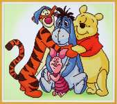 Click for more details of Diamond Painting - Pooh with Friends (diamond painting) by Vervaco