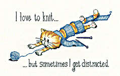 Click for more details of Distracted (cross stitch) by Peter Underhill