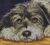 Click for more details of Dog Melancholy (cross stitch) by RTO