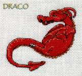 Click for more details of Draco 1 (cross stitch) by Nimue Fee Main