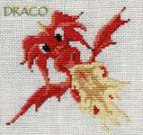 Click for more details of Draco 2 (cross stitch) by Nimue Fee Main