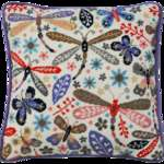 Click for more details of Dragonflies Cushion Front (tapestry) by Bothy Threads