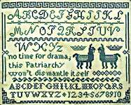 Click for more details of Drama Llama Sampler (cross stitch) by bendystitchy