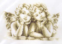 Click for more details of Dreaming Angels (cross stitch) by Vervaco