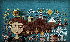 Click for more details of Dreaming Girl (cross stitch) by Barbara Ana Designs