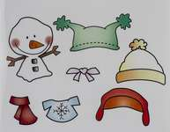 Click for more details of Dress it up Snowman (stamps) by Crafter's Companion