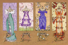 Click for more details of Dressmaker's Daughter (cross stitch) by Mirabilia Designs