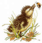 Click for more details of Duckling & Bumble Bee (cross stitch) by Marjolein Bastin