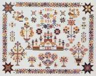 Click for more details of Dutch Sampler (cross stitch) by Eva Rosenstand