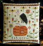 Click for more details of Eat Crow (cross stitch) by Plum Street Samplers