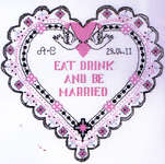 Click for more details of Eat, Drink and be Married (cross stitch) by Anchor
