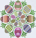 Click for more details of Eggs Ala Round (cross stitch) by Glendon Place