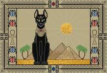 Click for more details of Egyptian Cat (cross stitch) by DoodleCraft Design