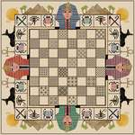 Click for more details of Egyptian Themed Chessboard (cross stitch) by DoodleCraft Design