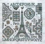 Click for more details of Eiffel Quaker (cross stitch) by Jardin Prive
