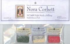 Click for more details of Eight Maids a Milking Embellishment Pack (beads and treasures) by Nora Corbett