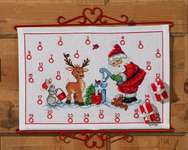 Click for more details of Elf Advent Calendar (cross stitch) by Permin of Copenhagen