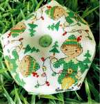 Click for more details of Elf Biscornu (cross stitch) by Tiny Modernist
